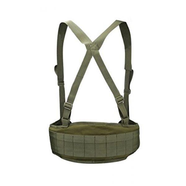 JFFCE Tactical Belt 6 JFFCE Tactical MOLLE Battle Belt Waist Belt with X-Shaped Suspenders Adjustable Combat Duty Belt Removable Harness