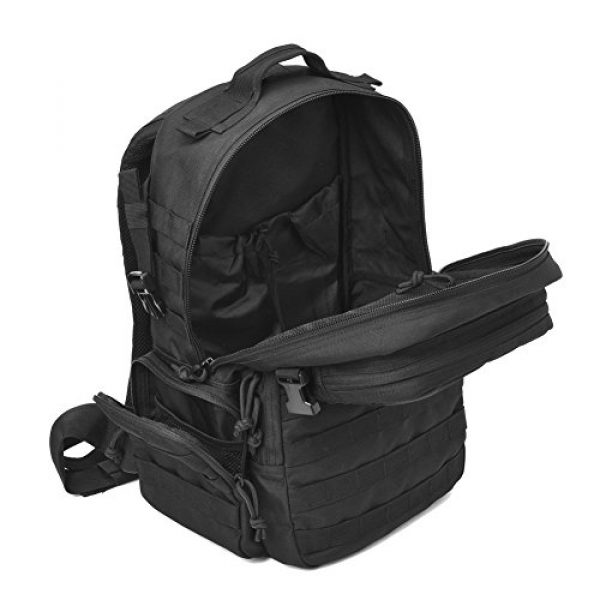 REEBOW GEAR Tactical Backpack 7 REEBOW GEAR Military Tactical Backpack Army Assault Pack Molle Bug Bag Backpacks Rucksack for Outdoor Sport Travel Hiking Camping School Daypack Black