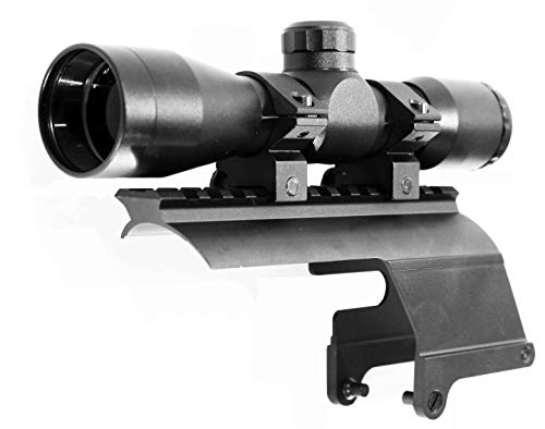 TRINITY Rifle Scope 4 Trinity 4x32 mildot Reticle Aluminum Black Picatinny Weaver Mount Adapter Tactical Optics Hunting Scope Single Rail Base for Stevens 320