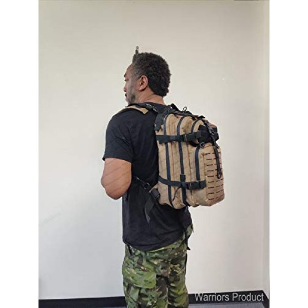 Warriors Product Tactical Backpack 7 Warriors Product Small Assault Backpack Military Tactical Backpack Bag with Flag Patch for Outdoor,Hiking, Camping Travel