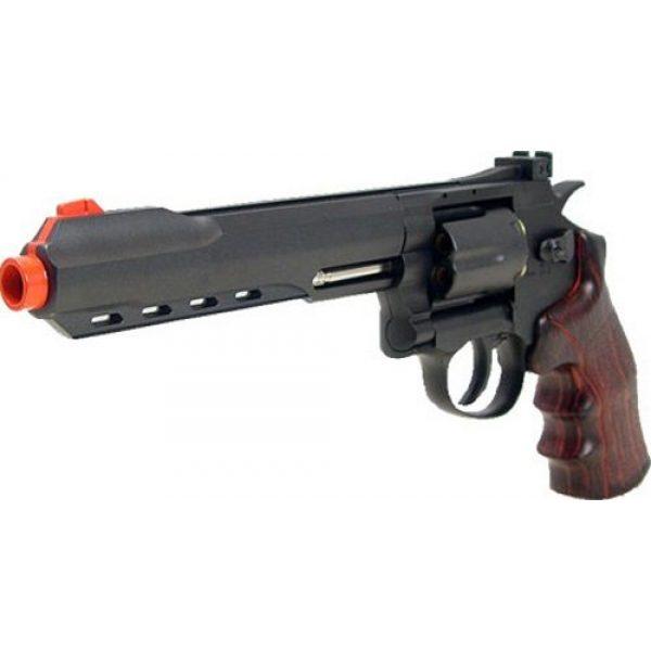 "Boomingisland Airsoft Pistol 2 Boomingisland Wingun 702 6"" Airsoft CO2 Revolver Black"