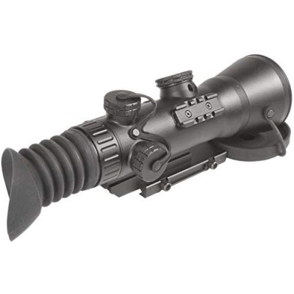 """PRG Defense Rifle Scope 2 PRG Defense 15WOL422103021 Model Wolverine 4 NL2 Gen 2+""""Level 2"""" Night Vision Rifle Scope with Sioux850 Long-Range Infrared Illuminator, 4X Magnification, 10m to Infinity Focus Range"""