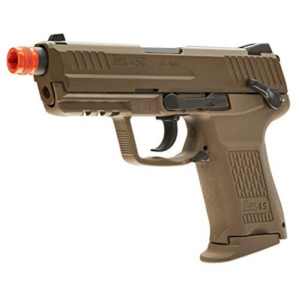 Elite Force Airsoft Pistol 2 Elite Force HK Heckler & Koch HK45 GBB Blowback 6mm BB Pistol Airsoft Gun, FDE