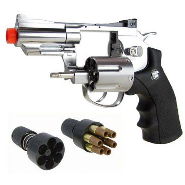 "Boomingisland Airsoft Pistol 4 Boomingisland Wingun 708 2.5"" Airsoft CO2 Revolver Silver"