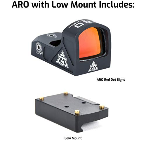 AT3 Tactical Rifle Scope 2 AT3 Tactical ARO Micro Red Dot Sight - Direct Mount, Low Mount, Optional Riser Mount - 3 MOA Compact Reflex Sight