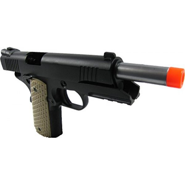 WE Airsoft Pistol 4 WE combat 191 gas blowback full metal - black(Airsoft Gun)
