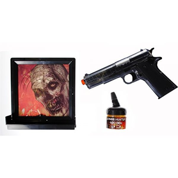zombie hunter Airsoft Pistol 1 Zombie Hunter Target Pack with Airsoft Pistol and Accessories, Black and Clear (Black/Clear)