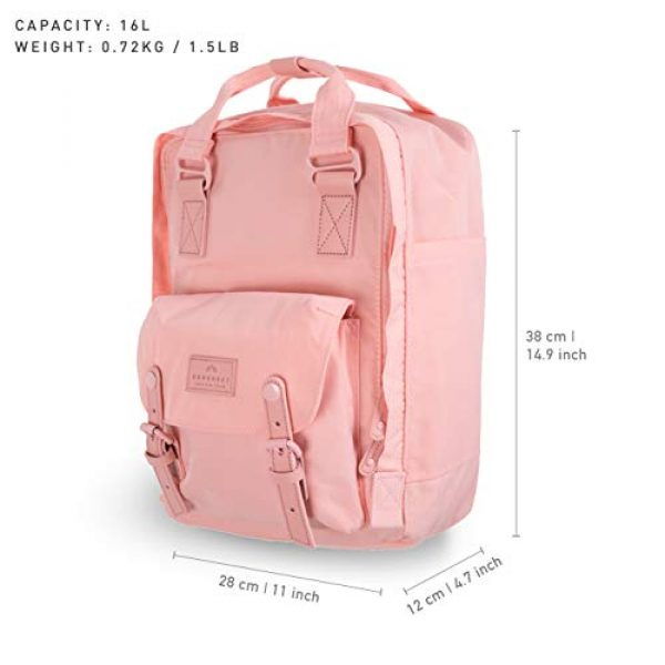 Doughnut Tactical Backpack 5 Doughnut Macaroon Pastel Series 16L Travel School Ladies College Girls Lightweight Commuter Casual Daypacks Bag Backpack (Coral)