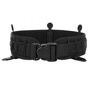 AIRSSON Tactical Belt 1 AIRSSON Heavy Duty Utility Belt Adjustable Tactical Padded Patrol Molle Battle Outer Belt,1000D Nylon Can Put Inner Belt for Men Military Police Law Enforcement Officers Shooting Paintball EDC Using