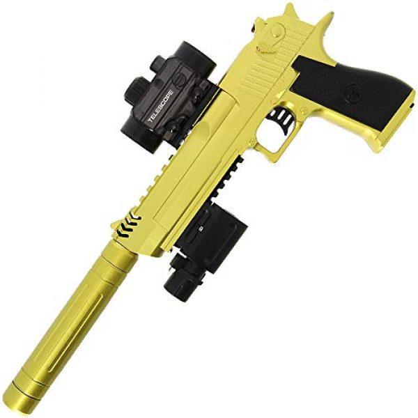 GELSOFT GelSoft Pistol 2 GELSOFT Water Gell Ball Crystal Blaster Pistol Automatic Rapid Fire Gold Eagle Gun