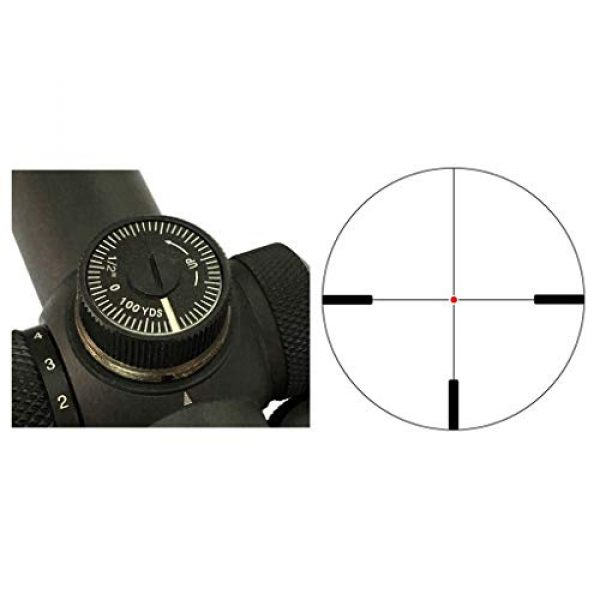 Vector Optics Rifle Scope 2 Vector Optics 1-5x24mm Second Focal Plane (SFP) 1/2 MOA Hunting Riflescope with Illuminated Dot Reticle, 30mm Mount Rings