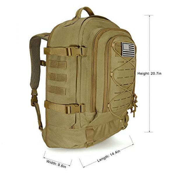 SunsionPro Tactical Backpack 5 SunsionPro MTB-236 Laser Molle Expandable Tactical Backpack for Traveling, Camping, Trekking & Hiking, 42-62L