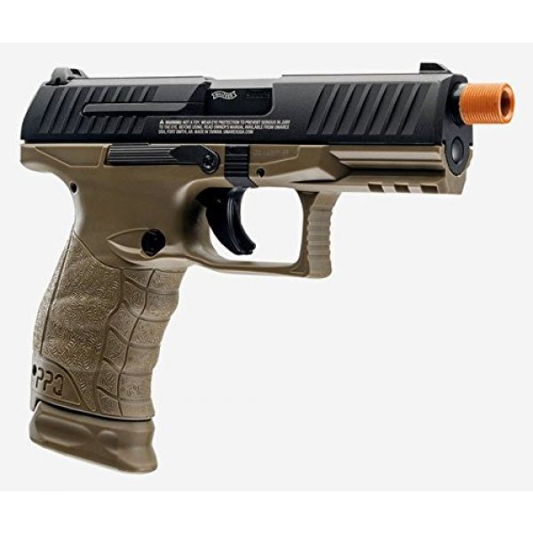 Elite Force Airsoft Pistol 3 Walther PPQ Gas Blowback Airsoft (Dark Earth Black)