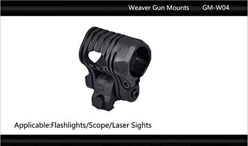 "Tactical Scorpion Gear Rifle Scope 3 Tactical Scorpion Gear TSG-GMW04 Pivoting Weaver Scope Flashlight Mount 26mm 1""- Black"