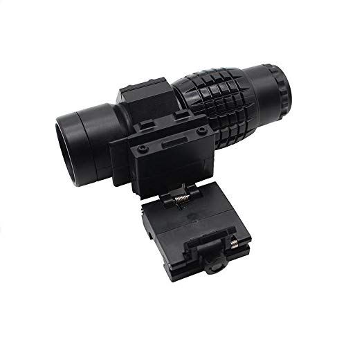 KTAIS Rifle Scope 4 KTAIS 3xMagnifier Riflescope Tactical Magnifying Hunting Scope for Riflescopes Plastic Toy Mount Fits Holographic Reflex Sight (Color : B)