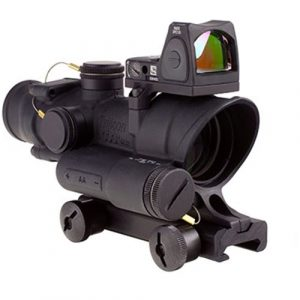 Trijicon Rifle Scope 1 Trijicon 4x32mm ACOG Red LED Illuminated Adj .223 Crosshair Reticle TA51 Mount Red Dot Sight Black Optics