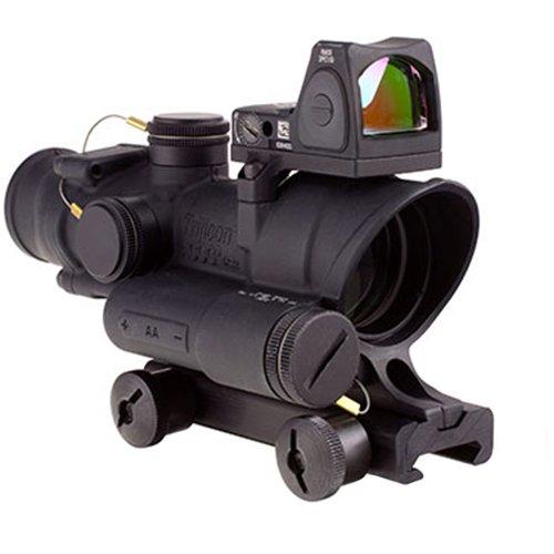 Trijicon Rifle Scope 1 Trijicon 4x32mm ACOG Red LED Illuminated Adj .223 Crosshair Reticle TA51 Mount Red Dot Sight Black Optics