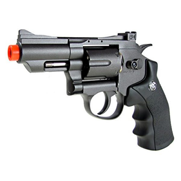 WG Airsoft Pistol 2 WG model-708 2 revolver full metal co2 non-blowback/black included 4 revolver holster-nylon(Airsoft Gun)
