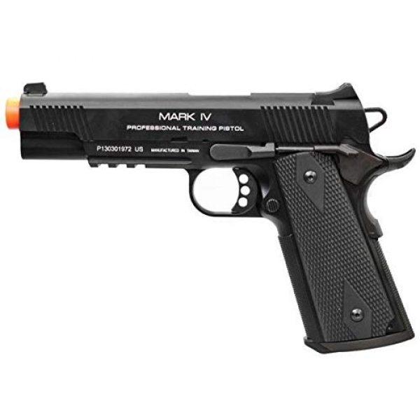 KWA Airsoft Pistol 3 KWA 1911 MK IV PTP 6mm Gas Blowback 21rd Airsoft Gun, Black