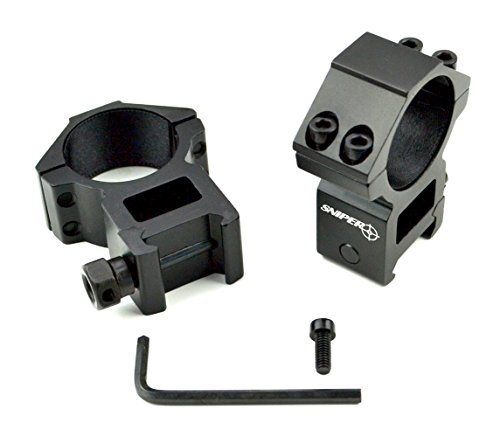 Sniper Rifle Scope Ring 2 Sniper 30 mm High Profile Scope Rings for Picatinny/ Weaver Rail, 4 points contact more Security