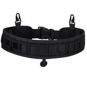 OAREA Tactical Belt 1 OAREA Molle Battle Belt Tactical Padded Patrol Adjustable Hunting Waist Patrol Belts 1000D High Density Nylon