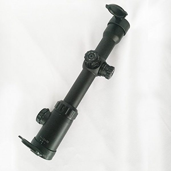 SECOZOOM Rifle Scope 7 1-12x30mm Mil Dot Shooting Scopes 12x Zoom Optical Sight Hunting for Strong Fireguns, Shoc-proofed