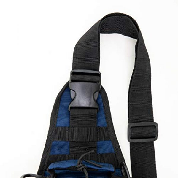 LINE2design Tactical Backpack 5 LINE2design Complete Sling Backpack Kit - EMS EMT Trauma First Aid Emergency Response Fully Stocked Survival Molle Kit - Stop Bleeding Safety Rescue Perfect Upgraded Outdoor Shoulder Bag Pack - Navy