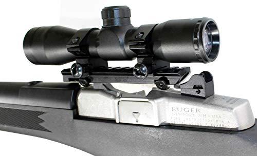 TRINITY Rifle Scope 2 TRINITY Hunting Scope and Mount for Ruger Mini 14 Mini 30 Tactical Optics Aluminum Black Picatinny Weaver Base Mount Adapter