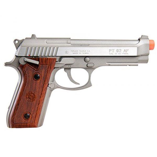 Taurus Airsoft Pistol 2 Taurus PT92 CO2 Full Metal Airsoft Pistol, Silver/Wood