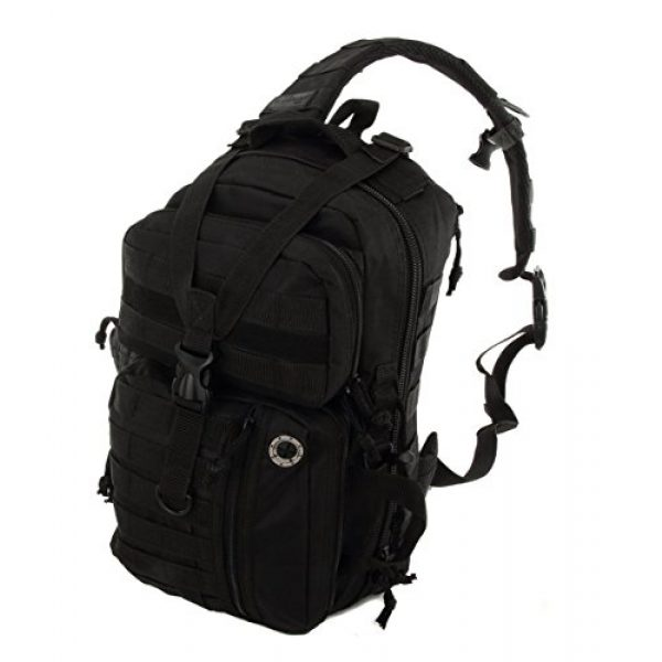 NPUSA Tactical Backpack 2 NPUSA Mens Tactical Gear Molle Hydration Ready Sling Shoulder Backpack Daypack Bag