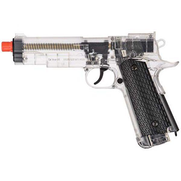 WellFire Airsoft Pistol 1 WellFire G292B-CR M1911 CO2 Airsoft Non-Blowback Pistol Clear