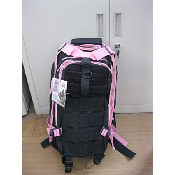 Explorer Tactical Backpack 2 Explorer Tactical 72 Hours Combat Rucksack 17 Inch Backpack-Black with Pick Stripes
