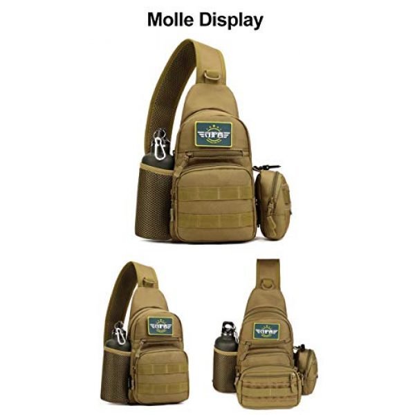 Huntvp Tactical Backpack 6 Huntvp Small Tactical Sling Chest Pack Bag Molle Daypack Backpack Military Crossbody