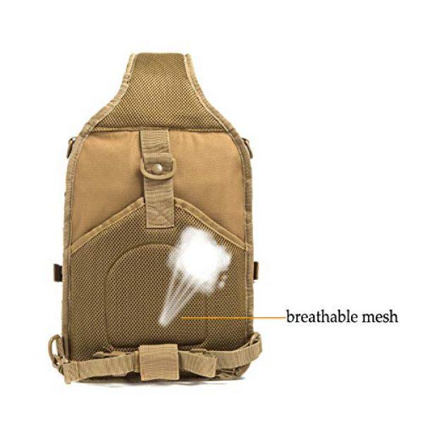 SHELCUP Tactical Backpack 5 SHELCUP EDC Sling Bag Pack, Rover Shoulder Molle Backpack, with USA Flag Patch