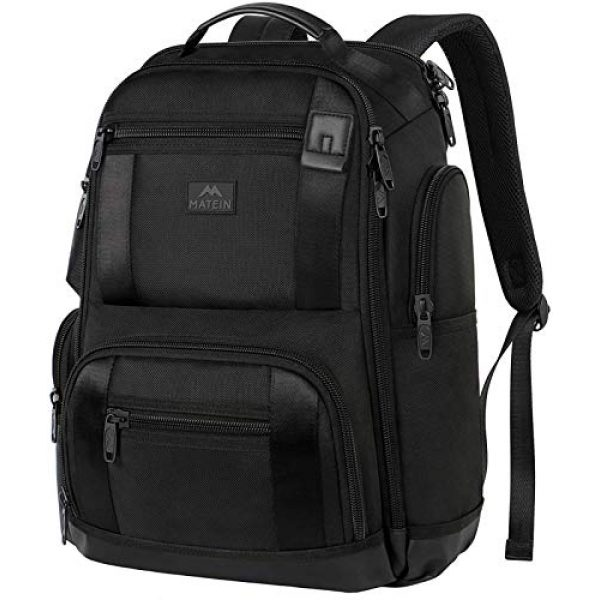 MATEIN Tactical Backpack 1 Laptop Backpack,17 Inch Travel Laptop Backpack for Men Women,Professional Business Carry on Backpack for Notebook, Large Backpack Tsa Friendly Water Resistant High School College Computer Bag, Black