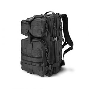 ProCase Tactical Backpack 1 ProCase Military Tactical Backpack, 35L Large Capacity Rucksacks 2 Day Army Assault Pack Go Bag for Hunting, Trekking, Camping and Other Outdoor Activities -Black
