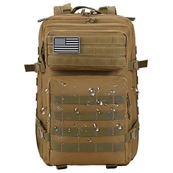 Luckin Packin Tactical Backpack 3 Luckin Packin Tactical Backpack,Military Backpack 45L with Tactical Sling Bag Khaki