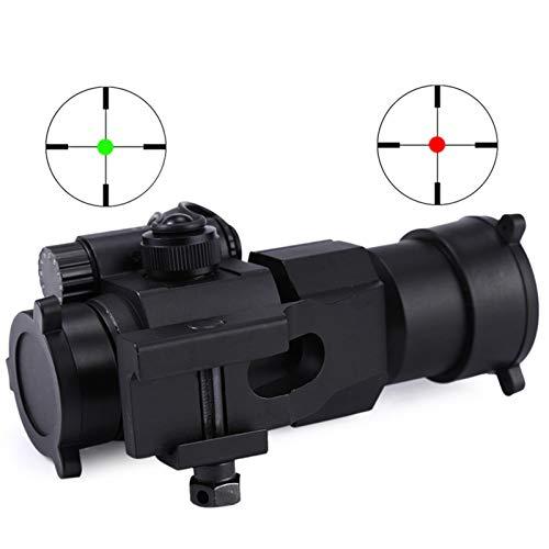 UELEGANS Rifle Scope 2 UELEGANS Red Dot Sight, 1X30mm Hunting Riflescope Sight Red Green Dot Rifle Scope Riflescope for 20mm Rail
