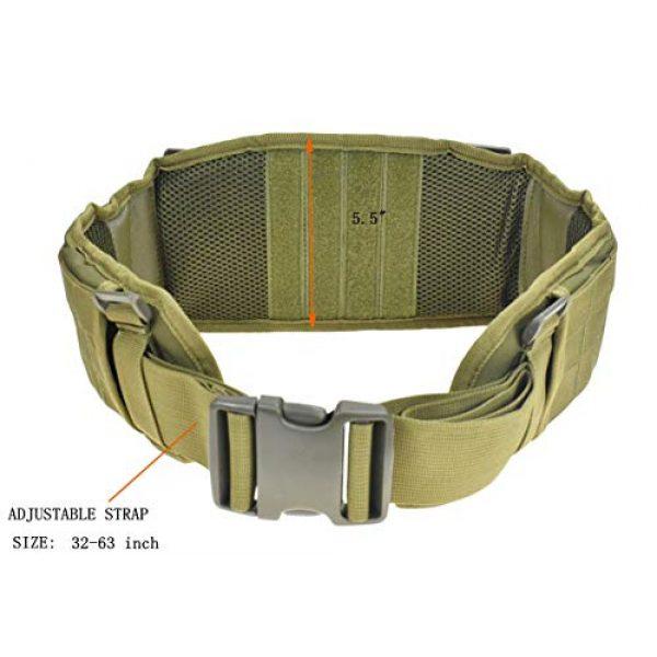JFFCE Tactical Belt 2 JFFCE Tactical MOLLE Battle Belt Waist Belt with X-Shaped Suspenders Adjustable Combat Duty Belt Removable Harness