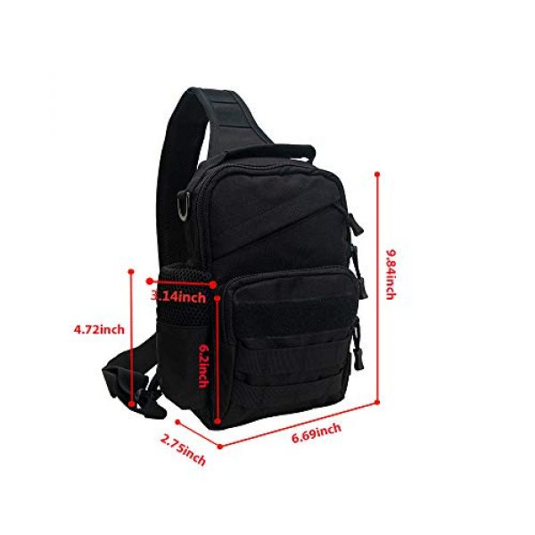 Ousawig Tactical Backpack 2 Ousawig Tactical Small Sling Backpack Chest Shoulder Bag Molle Daypack with USB Charging for Men Outdoor Cycling Hiking Camping