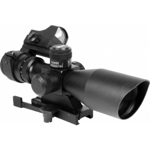 Aim Sports Rifle Scope 1 Aim Sports Tactical 3-9x40 Scope/Red Dot Sight Combo