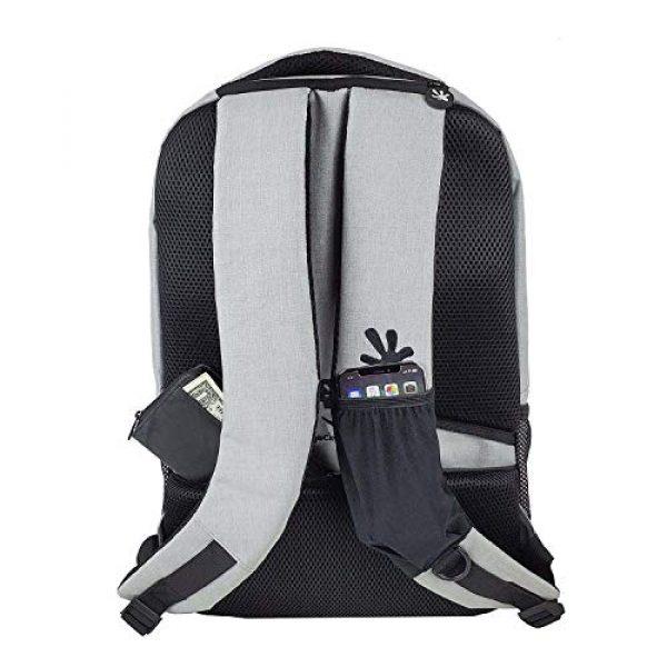 """geckobrands Tactical Backpack 2 geckobrands Ambition Backpack """" School/Work Backpack, Light Grey"""