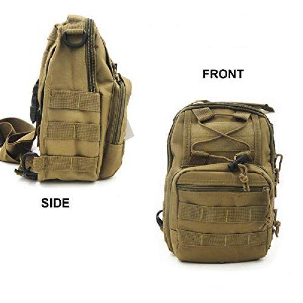 FAMI Tactical Backpack 5 FAMI Outdoor Tactical Bag Backpack, Military Sport Bag Pack Sling Shoulder Backpack Tactical Satchel for Every Day Carry
