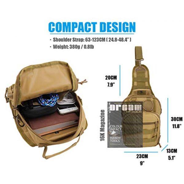 Gisdanchz Tactical Backpack 2 Gisdanchz Outdoor Tactical Molle Bag Military Backpack Sling Crossbody Shoulder Bags for Men Women