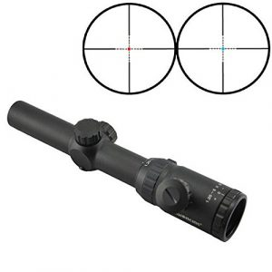 Visionking  1 Visionking Rifle Scope 1.25-5x26 Red and Blue Illuminated Mil-dot Riflescope IR Hunting Riflescopes for Color Black