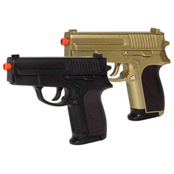 MilSim Airsoft Pistol 3 Twin Spring Dual Airsoft Pistol Combo Pack Set Hand Gun w/Case 6mm BB BBS