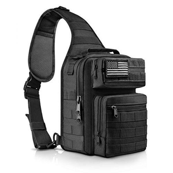 CVLIFE Tactical Backpack 1 CVLIFE Tactical Sling Bag Pack Military Rover Shoulder Sling Backpack Molle Range Bag EDC Small Day Pack with Padding Pocket