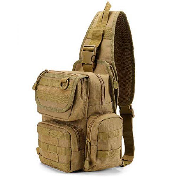 G4Free Tactical Backpack 2 G4Free Tactical EDC Sling Bag Pack with Pistol Holster Sling Shoulder Assault Range Backpack Handgun Gag for Concealed Carry