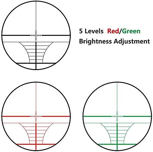 QILU Rifle Scope 5 QILU 3-9x40 Rangefinder Red & Green Illuminated Reticle Optics Hunting Scope 1 Inch Tube