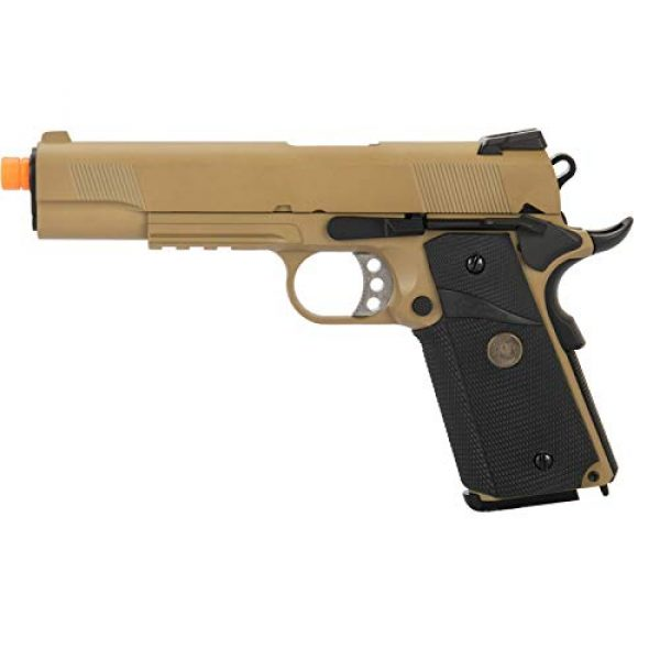 Lancer Tactical Airsoft Pistol 1 Lancer Tactical WE 1911 Full Metal MEU Airsoft Gas Blowback Pistol with Picatinny Rail TAN 350 FPS